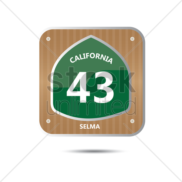 california route forty three road sign vector graphic