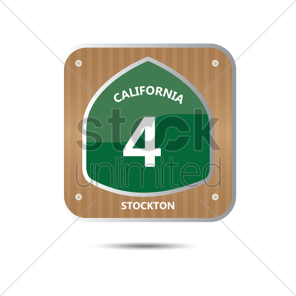 california route four road sign vector graphic