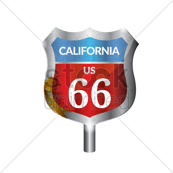 california route signboard vector graphic