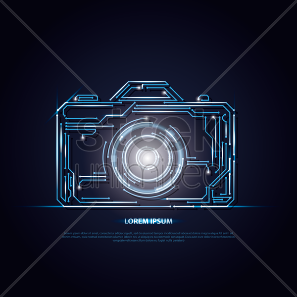 camera circuit background vector graphic