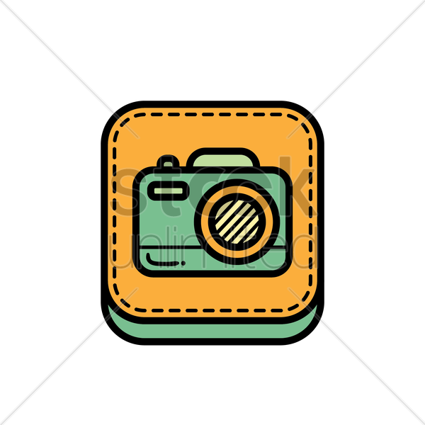 Free camera icon vector graphic