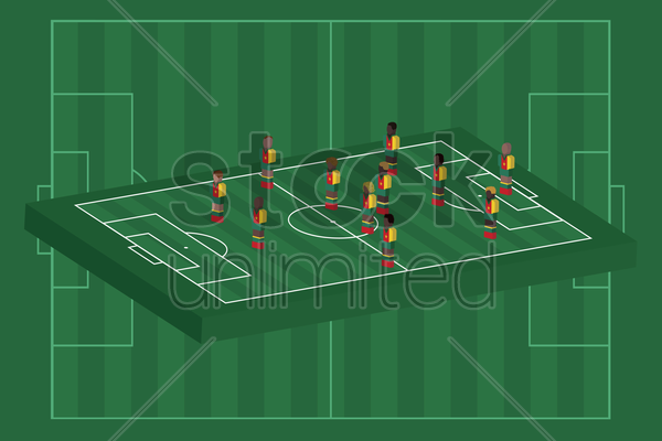 cameroon team formation vector graphic
