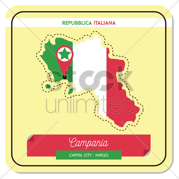 campania map vector graphic