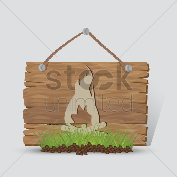 campfire sign vector graphic