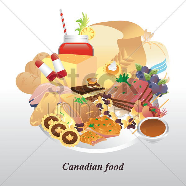 canadian food vector graphic