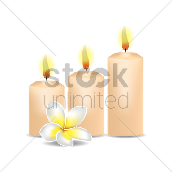 candles vector graphic