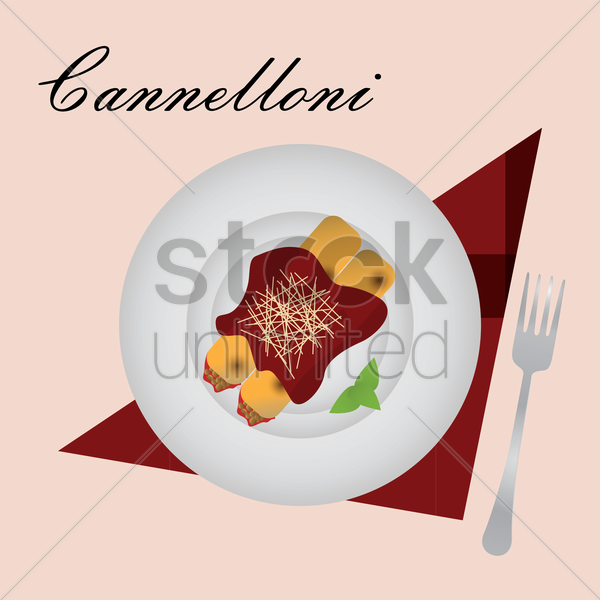 cannelloni vector graphic