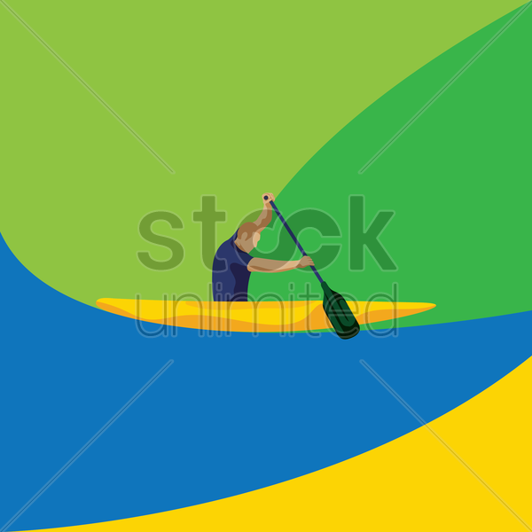 canoeing vector graphic