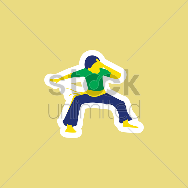 capoeira vector graphic