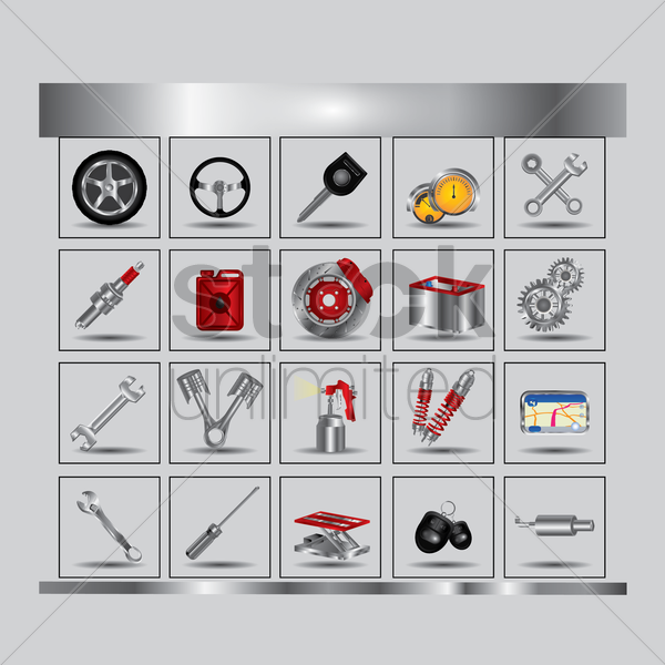 Free car equipment vector graphic