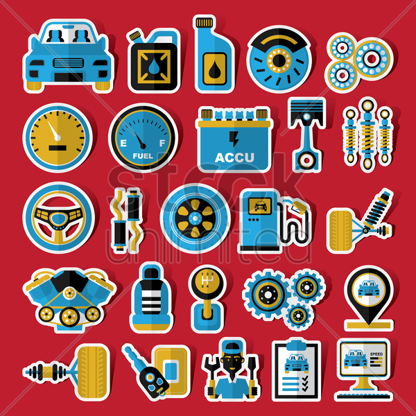 car equipment vector graphic