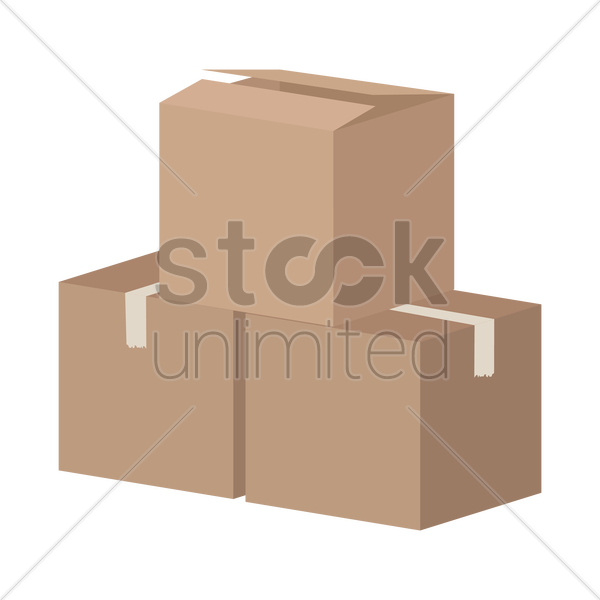 cardboard boxes vector graphic