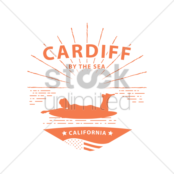 cardiff vector graphic