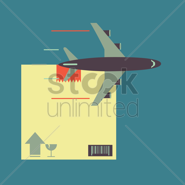 cargo air plane vector graphic