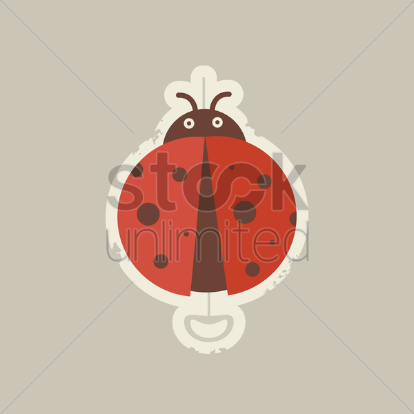 cartoon bug with cream colour tale vector graphic