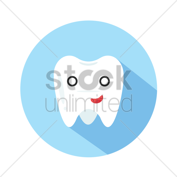cartoon tooth man vector graphic