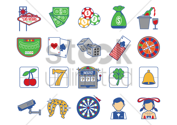 casino icons vector graphic