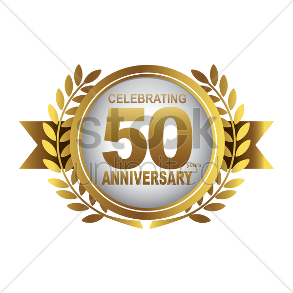 celebrating anniversary label vector graphic