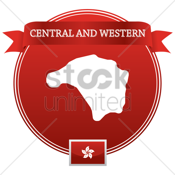 central and western map vector graphic