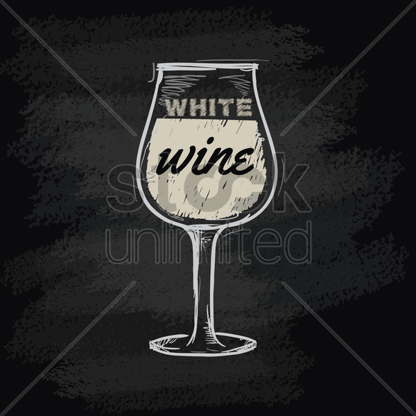 chalk wine icon vector graphic