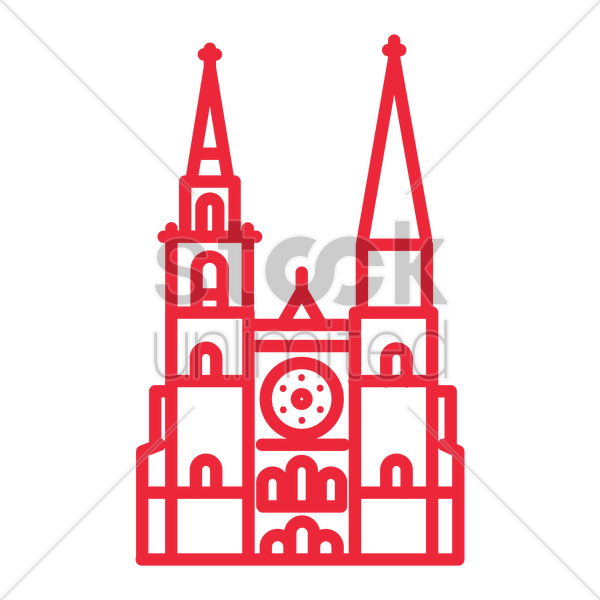 chartres cathedral vector graphic