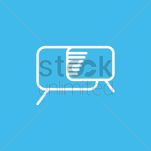 chat icon vector graphic