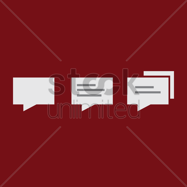 chat icons on maroon background vector graphic