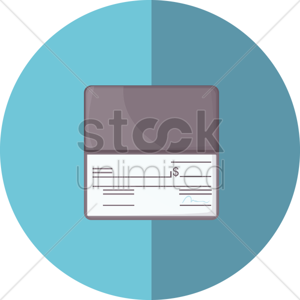 check book vector graphic