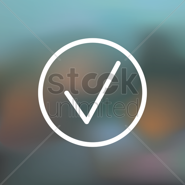 check mark icon vector graphic