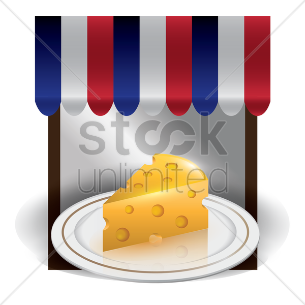 cheese in a plate vector graphic