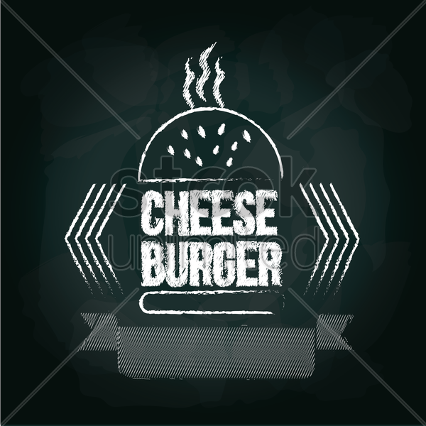cheeseburger menu card design vector graphic