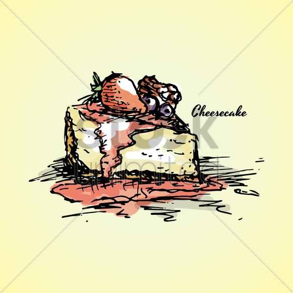 cheesecake vector graphic