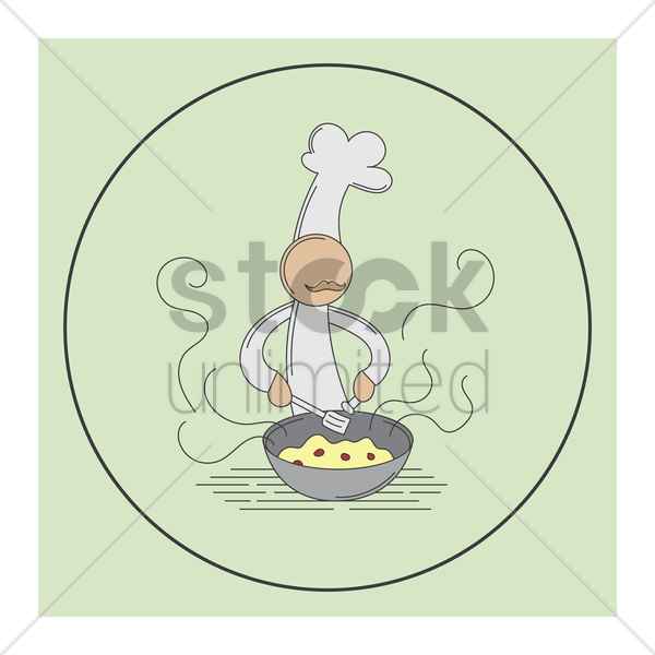 chef cooking vector graphic