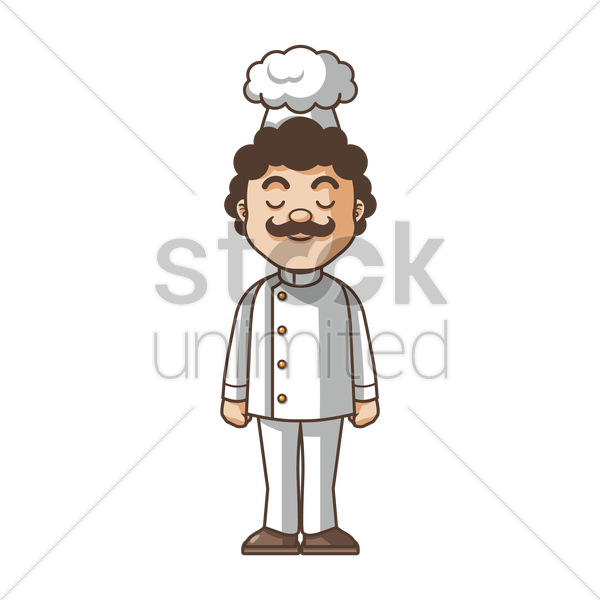 chef standing vector graphic