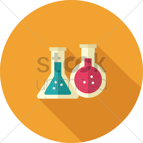 Free chemical flasks vector graphic