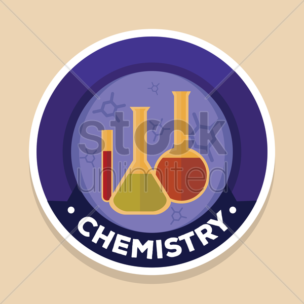 chemistry label vector graphic