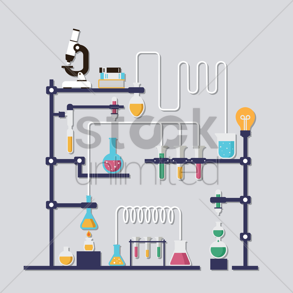 chemistry laboratory vector graphic