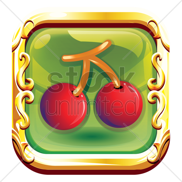 cherries vector graphic