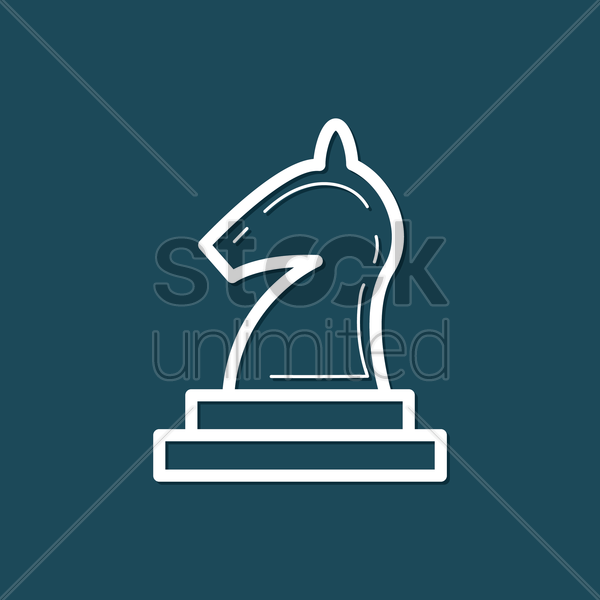 Free chess piece vector graphic