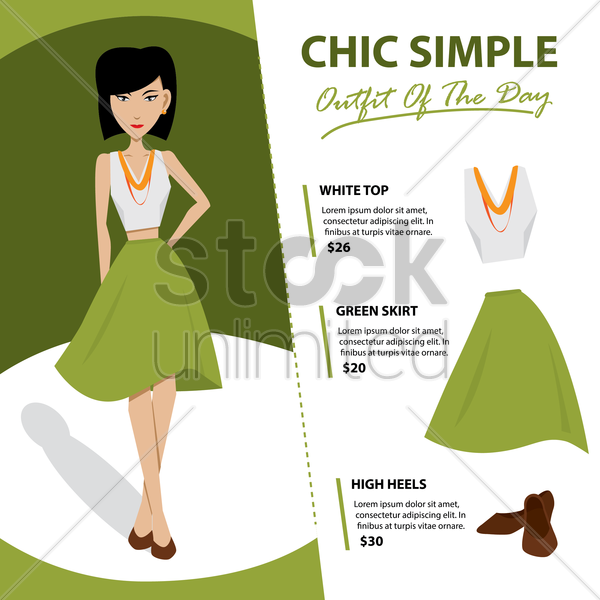chic simple vector graphic