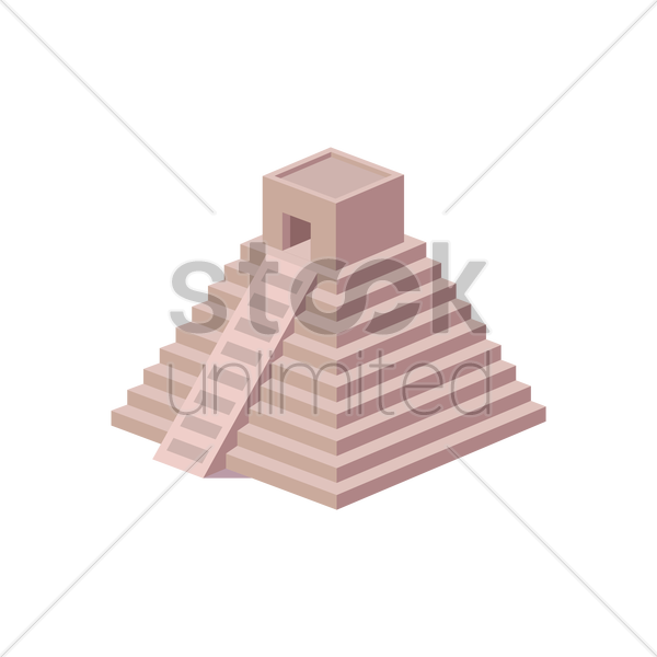 chichen itza vector graphic