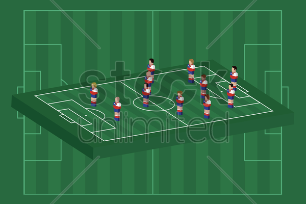 chile team formation vector graphic