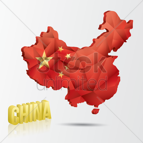 china map vector graphic