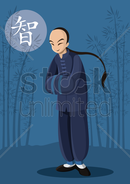 chinese man vector graphic