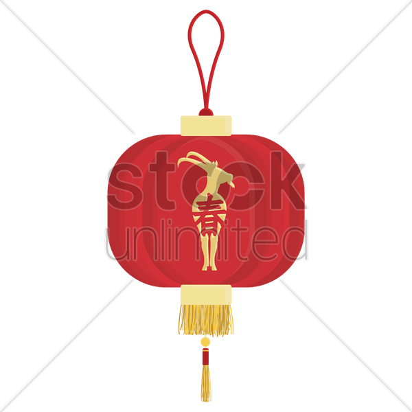 Chinese new year traditional lantern design Vector Image ...