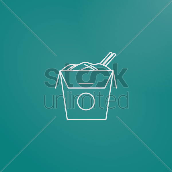 chinese takeaway box vector graphic