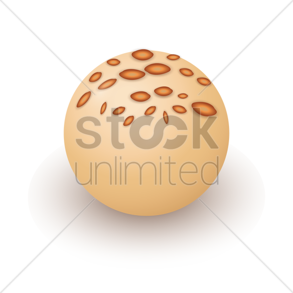 chocolate ball vector graphic