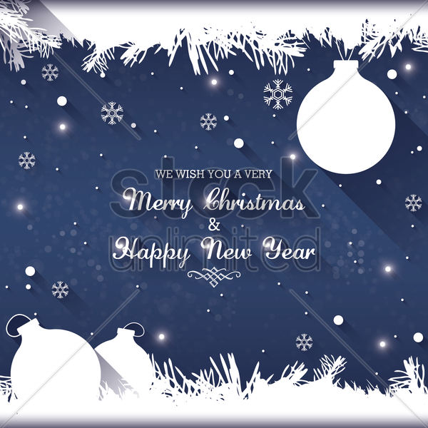 christmas and new year greetings vector graphic