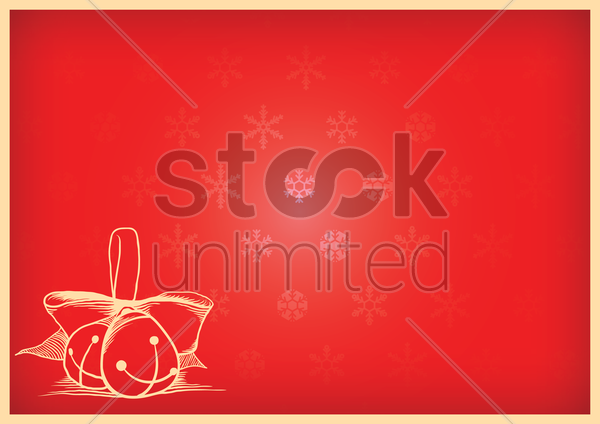 christmas background with baubles vector graphic