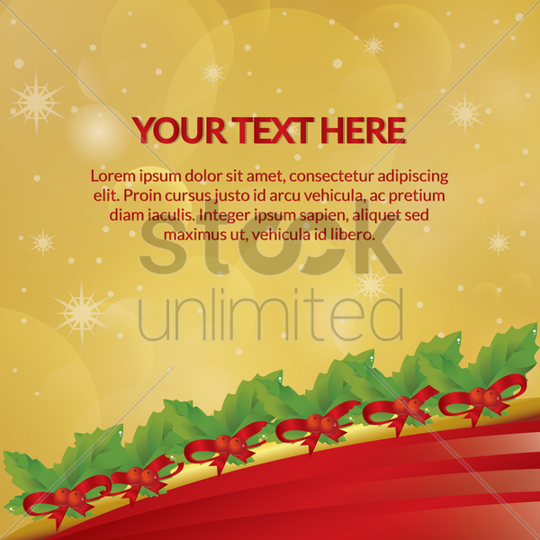 Free christmas background vector graphic